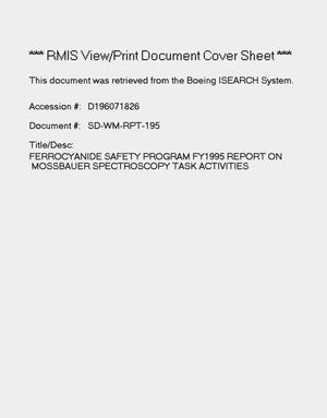 Primary view of object titled 'Ferrocyanide safety program: FY 1995 report on Mossbauer spectroscopy tank activities'.