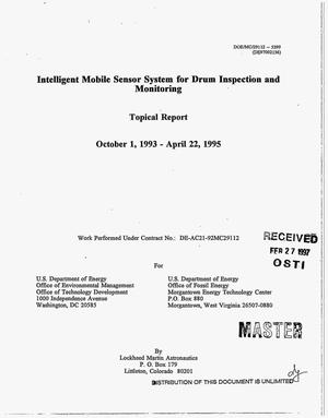 Primary view of object titled 'Intelligent mobile sensor system for drum inspection and monitoring: Topical report, October 1, 1993--April 22, 1995'.