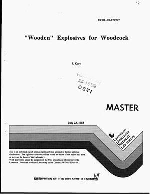 Primary view of object titled 'Wooden explosives for woodcock'.