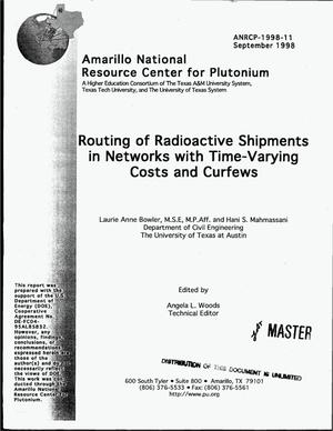 Primary view of object titled 'Routing of radioactive shipments in networks with time-varying costs and curfews'.