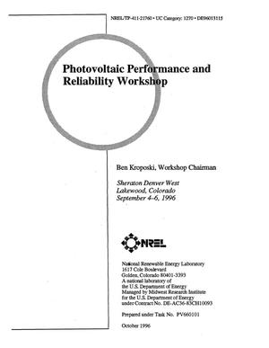 Primary view of object titled 'Photovoltaic performance and reliability workshop'.