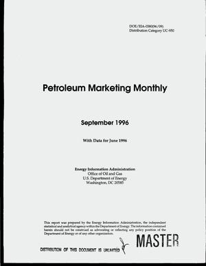 Primary view of object titled 'Petroleum marketing monthly: September 1996, with data for June 1996'.