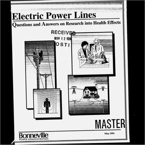 Primary view of object titled 'Electric Power Lines : Questions and Answers on Research into Health Effects.'.