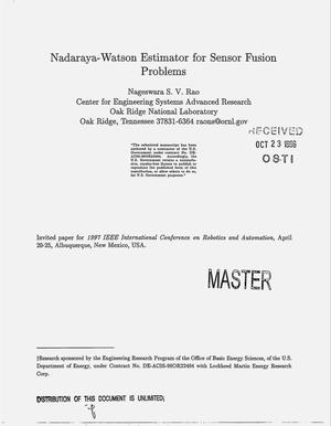Primary view of object titled 'Nadaraya-Watson estimator for sensor fusion problems'.
