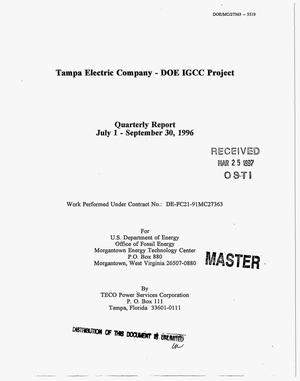 Primary view of object titled 'Tampa Electric Company - DOE IGCC project. Quarterly report, July 1 - September 30, 1996'.