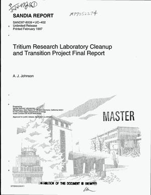 Primary view of object titled 'Tritium research laboratory cleanup and transition project final report'.