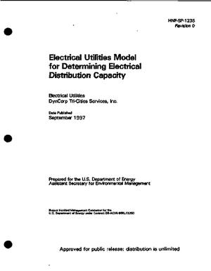 Primary view of object titled 'Electrical utilities model for determining electrical distribution capacity'.