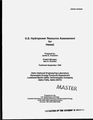 Primary view of object titled 'US hydropower resource assessment for Hawaii'.