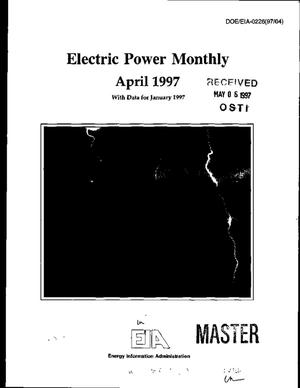 Primary view of object titled 'Electric power monthly with data for January 1997'.