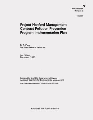 Primary view of object titled 'Project Hanford Management Contract (PHMC) pollution prevention program implementation plan'.