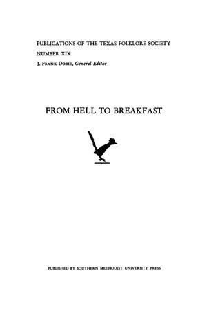 Primary view of object titled 'From Hell to Breakfast'.