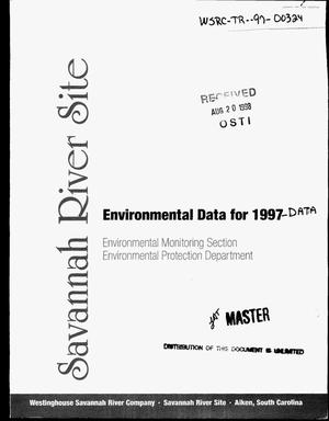 Primary view of object titled 'Savannah River Site Environmental Report for 1997-Data'.