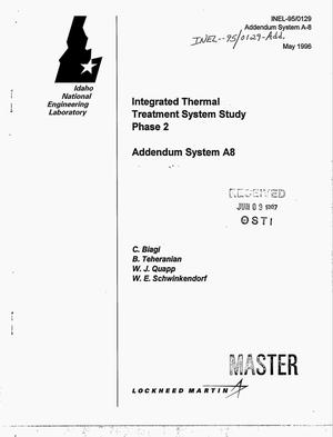 Primary view of object titled 'Integrated thermal treatment system study. Phase 2. Addendum system A8'.
