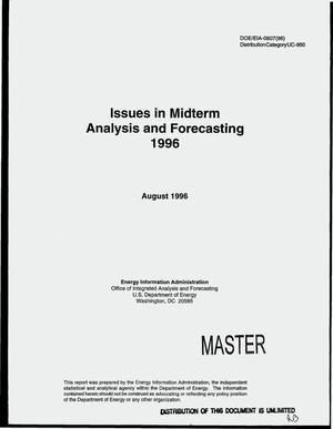 Primary view of object titled 'Issues in midterm analysis and forecasting, 1996'.