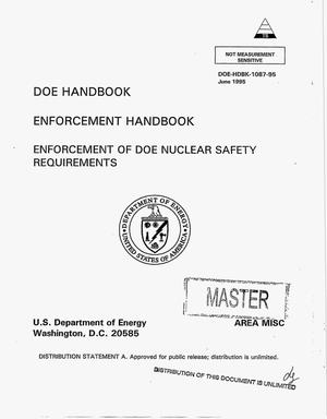 Primary view of object titled 'Enforcement handbook: Enforcement of DOE nuclear safety requirements'.
