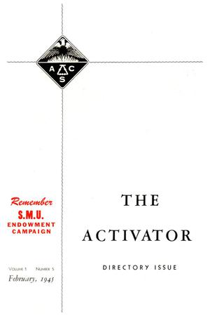 Primary view of object titled 'The Activator, Volume 1, Number 5, February 1945'.