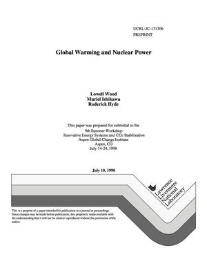 Primary view of object titled 'Global warming and nuclear power'.