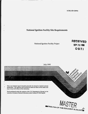 Primary view of object titled 'National Ignition Facility site requirements'.