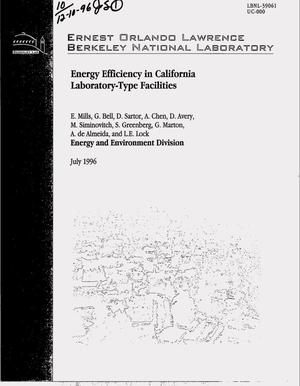 Primary view of object titled 'Energy efficiency in California laboratory-type facilities'.