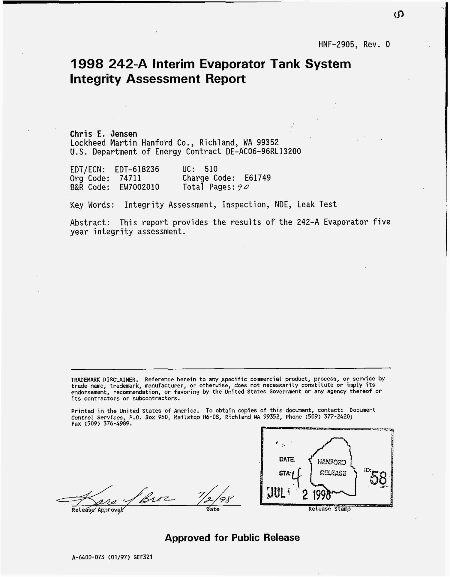1998 interim 242-A Evaporator tank system integrity assessment report                                                                                                      [Sequence #]: 2 of 92