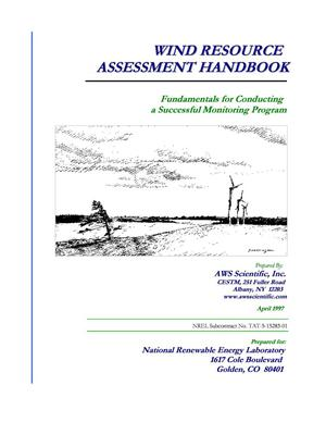 Primary view of object titled 'Wind resource assessment handbook: Fundamentals for conducting a successful monitoring program'.