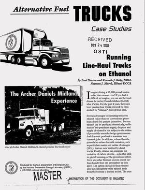 Primary view of object titled 'Alternative fuel trucks case studies: Running line-haul trucks on ethanol'.