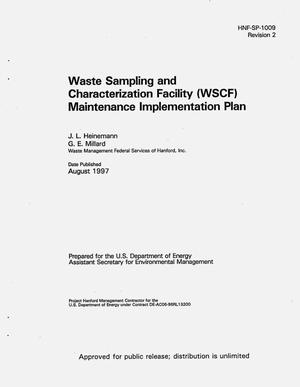 Primary view of object titled 'Waste sampling and characterization facility (WSCF) maintenance implementation plan'.