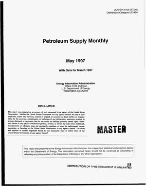 Primary view of object titled 'Petroleum supply monthly with data for March 1997'.