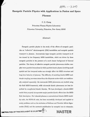 Primary view of object titled 'Energetic particle physics with applications in fusion and space plasmas'.