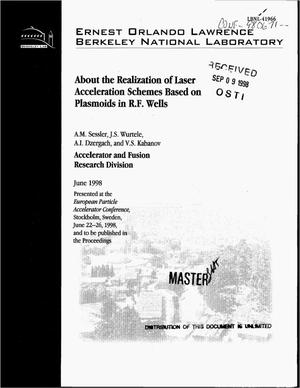 Primary view of object titled 'About the realization of laser acceleration schemes based on plasmoids in r.f. wells'.
