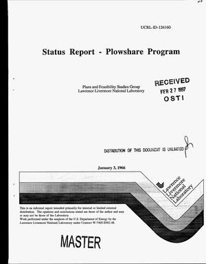 Primary view of object titled 'Status report on Plowshare Program, [January 1996]'.