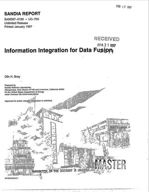 Primary view of object titled 'Information integration for data fusion'.