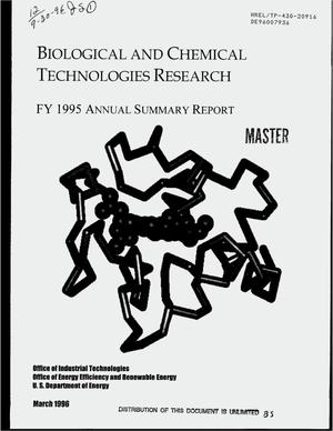 Primary view of object titled 'Biological and chemical technologies research. FY 1995 annual summary report'.