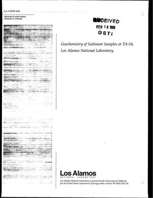 Primary view of object titled 'Geochemistry of Sediment Samples at TA-54, Los Alamos National Laboratory'.