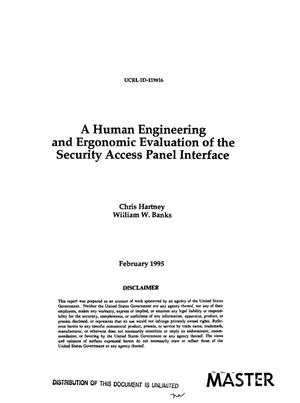 A human engineering and ergonomic evaluation of the security