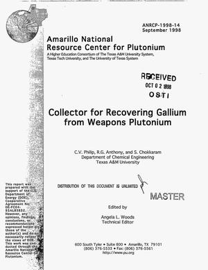 Primary view of object titled 'Collector for recovering gallium from weapons plutonium'.
