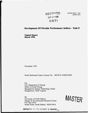 Primary view of object titled 'Development of fireside performance indices - task 8. Topical report, March 1996'.