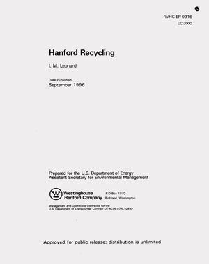 Primary view of object titled 'Hanford recycling'.