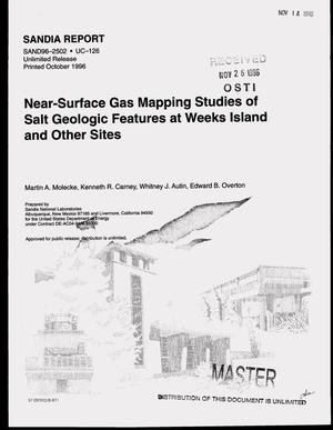 Primary view of object titled 'Near-surface gas mapping studies of salt geologic features at Weeks Island and other sites'.
