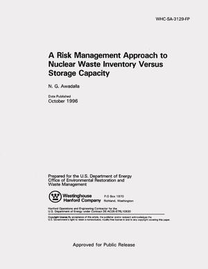 Primary view of object titled 'A risk management approach to nuclear waste inventory versus storage capacity'.