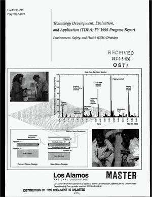 Primary view of object titled 'Technology Development, Evaluation, and Application (TDEA) FY 1995 progress report - Environmental, Safety, and Health (ESH) division'.