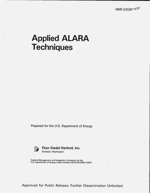 Primary view of object titled 'Applied ALARA techniques'.