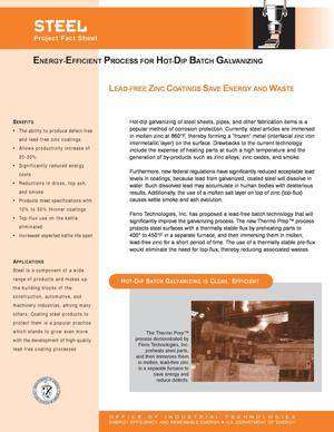 Primary view of object titled 'Steel: Energy-Efficient Process for Hot-Dip Batch Galvanizing'.
