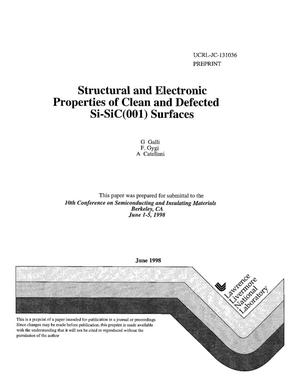 Primary view of object titled 'Structural and electronic properties of clean and defected Si-SiC(001) surfaces'.