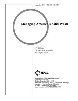 Primary view of object titled 'Managing America's solid waste'.