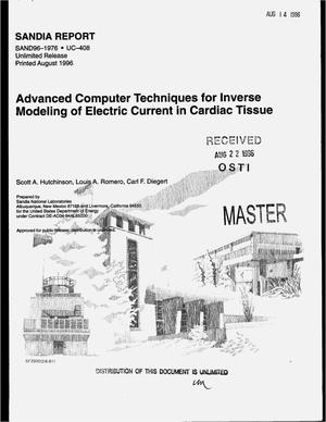 Primary view of object titled 'Advanced computer techniques for inverse modeling of electric current in cardiac tissue'.