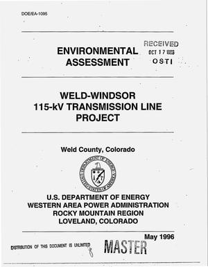 Primary view of object titled 'Weld-Windsor 115-kV Transmission Line Project, Weld County, Colorado'.