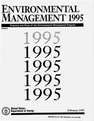 Primary view of object titled 'Environmental Management 1995: Progress and plans of the Environmental Management Program'.