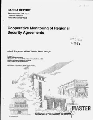 Primary view of object titled 'Cooperative monitoring of regional security agreements'.