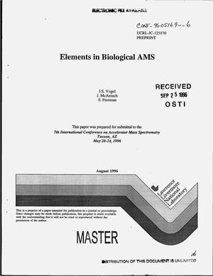 Primary view of object titled 'Elements in biological AMS'.